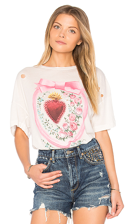 Wildfox Couture Heirlooms Tee in Ivory