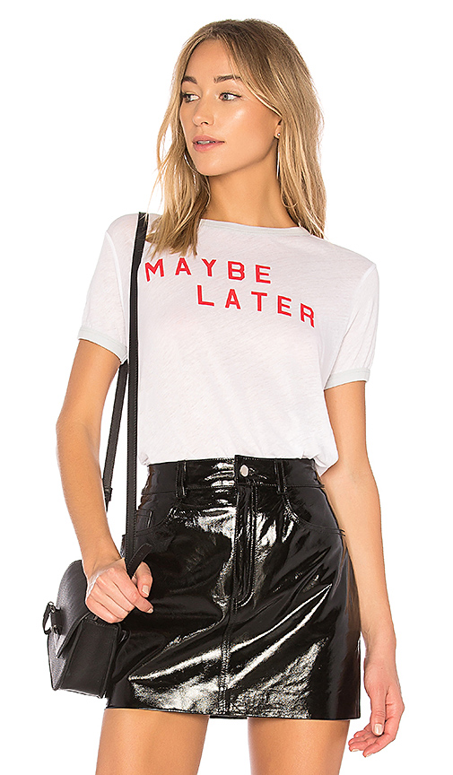 Wildfox Couture Maybe Later Tee in White