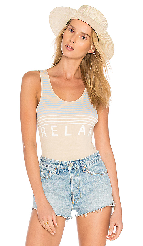 Wildfox Couture Relax Bodysuit in Tan