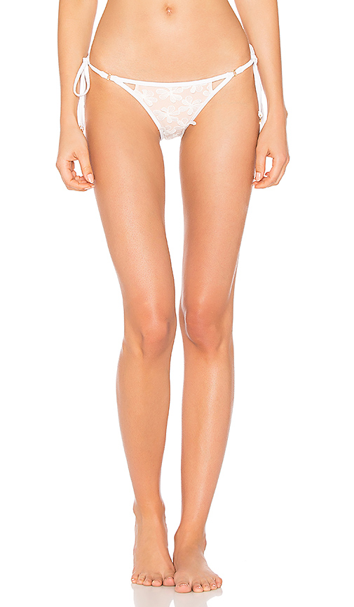 Wildfox Couture Daisy Mesh Zooey Triangle Bottom in White