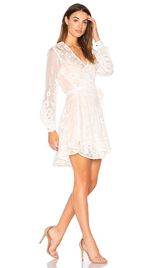Winona Australia Estee Wrap Dress in White. - size Aus 10/US M (also in Aus 12/US L,Aus 6/US XS)