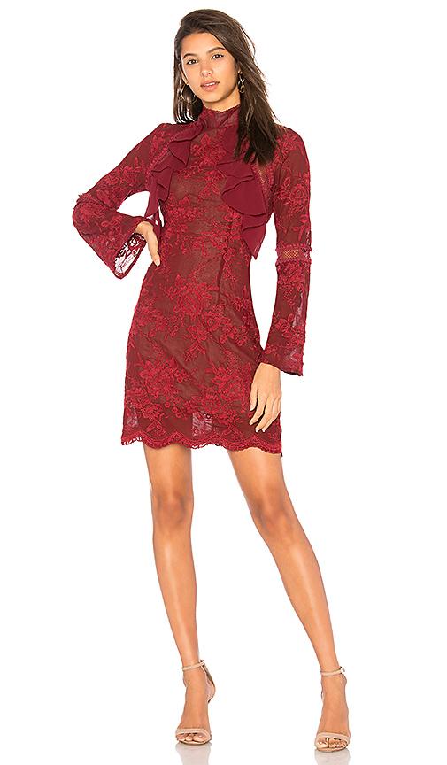 Winona Australia Sorrento Long Sleeve Dress in Red