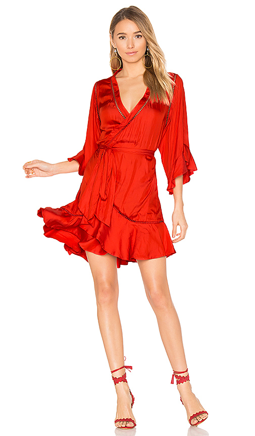 Winona Australia Arielle Short Wrap Dress in Red. - size Aus 10/US M (also in Aus 12/US L,Aus 6/US XS, Aus 8/US S)
