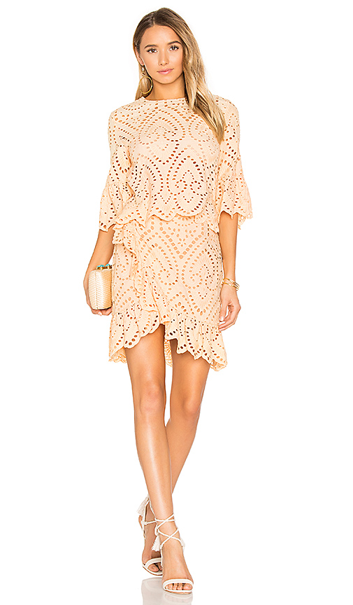 Winona Australia Valerie Wrap Dress in Peach. - size Aus 10/US 6 (also in Aus 6/US 2)