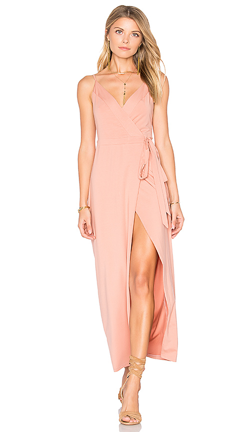 WYLDR Wrap Over Dress in Blush. - size L (also in M,S,XS)