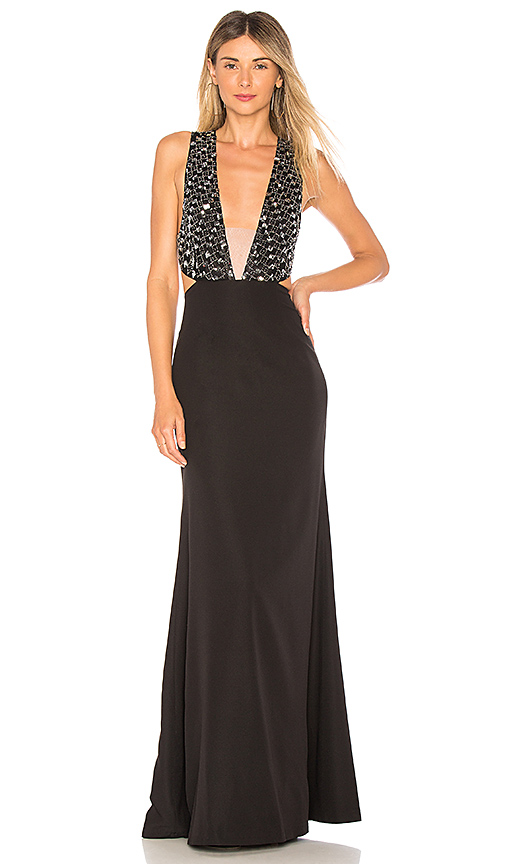 X by NBD Blanka Gown in Black