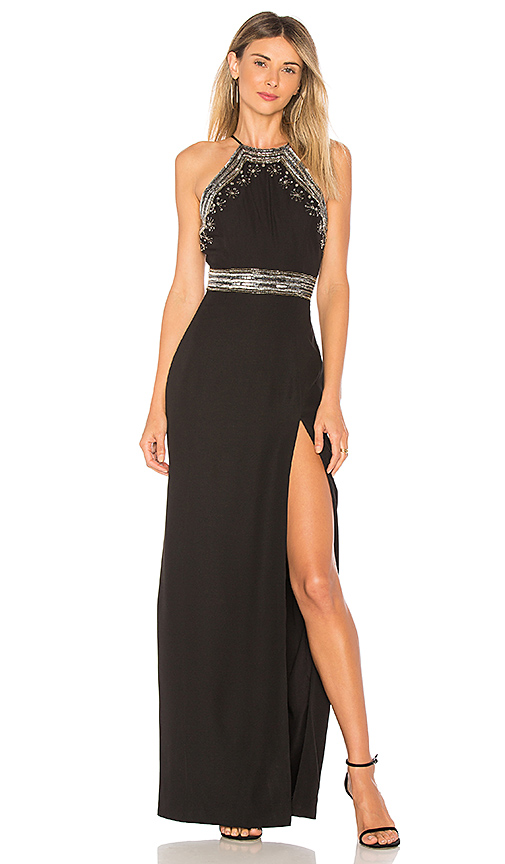 X by NBD Pippa Gown in Black