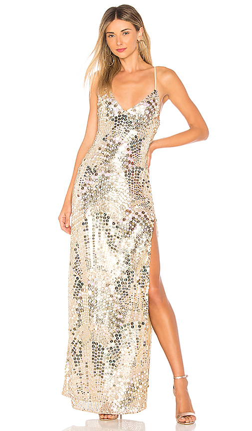 X by NBD NBD x REVOLVE Ember Gown in Metallic Gold