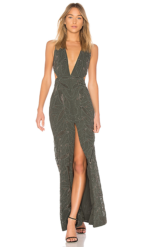 X by NBD Karolina Gown in Green
