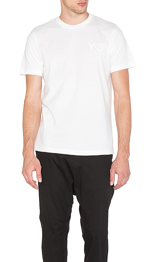 Y-3 Yohji Yamamoto Classic Tee in White. - size L (also in M,S,XL)
