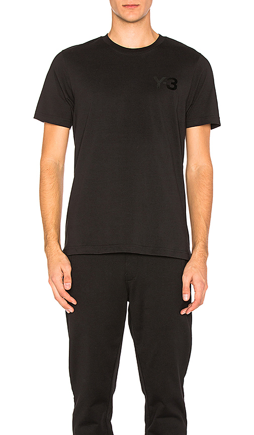 Y-3 Yohji Yamamoto CL SS Tee in Black. - size L (also in M,S)