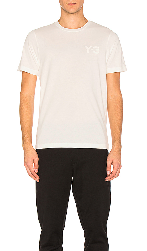Y-3 Yohji Yamamoto Classic Tee in White. - size S (also in L,M,XL)