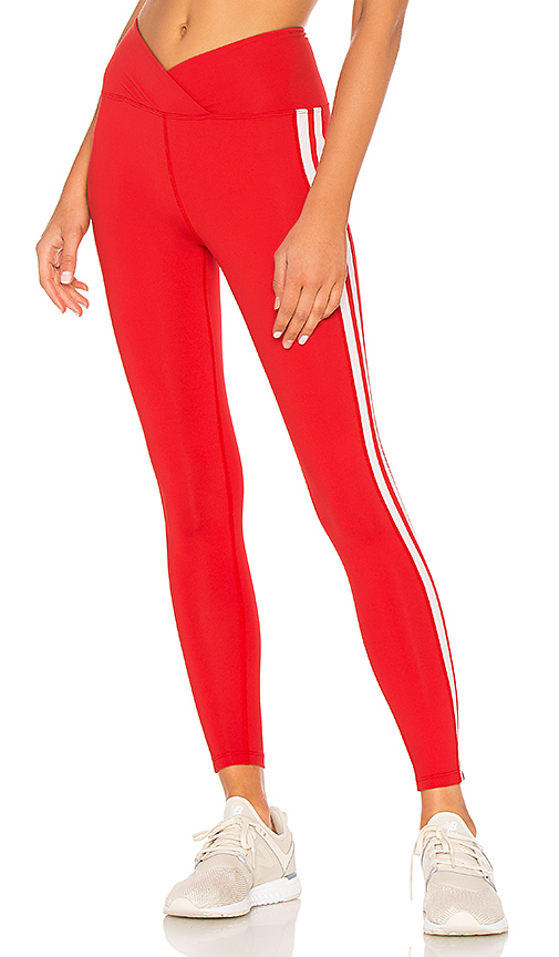 YEAR OF OURS Racer High Rise Legging in Red. - size M (also in L,S,XS)