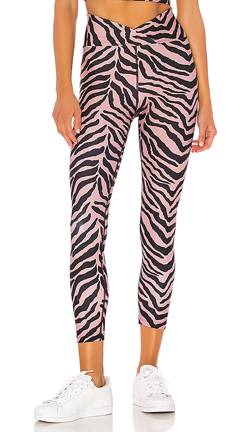 YEAR OF OURS Veronica Tiger Legging in Mauve. - size M (also in L,S,XS)