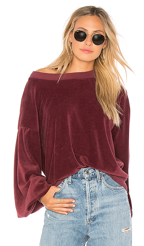 Young, Fabulous & Broke Frailey Sweatshirt in Red. - size S (also in L,M,XS)