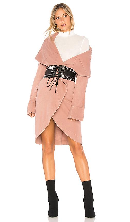 Young Fabulous & Broke Sandrine Coat in Rose