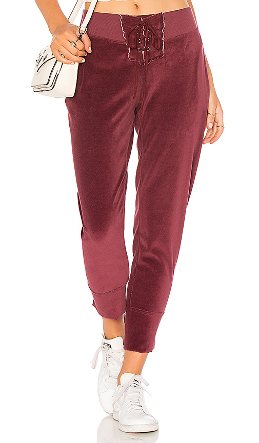 Young, Fabulous & Broke Kelela Pant in Red. - size S (also in L,M,XS)