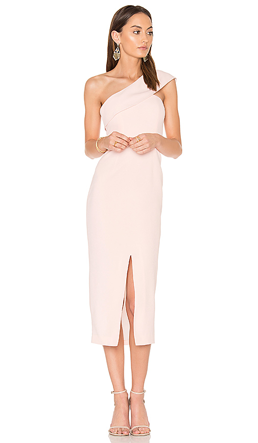 Yumi Kim That Jazz Midi Dress in Blush. - size L (also in M,S,XS)