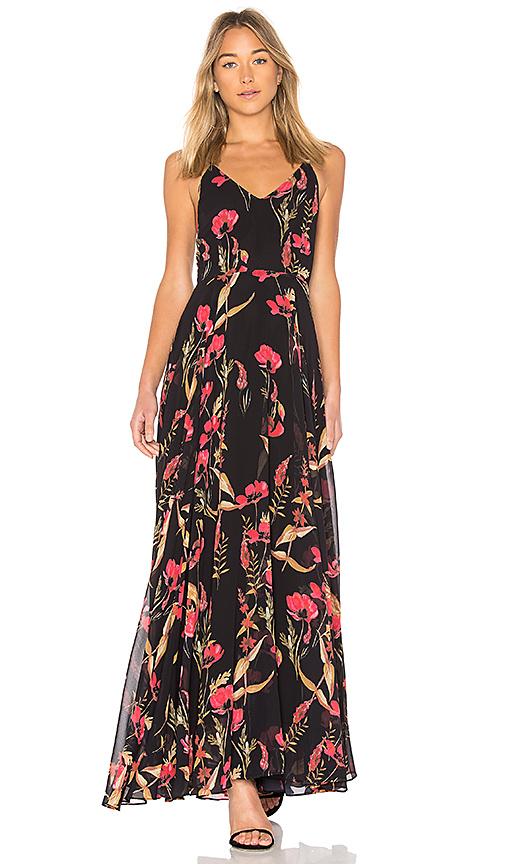 Yumi Kim Peace and Love Maxi Dress in Black