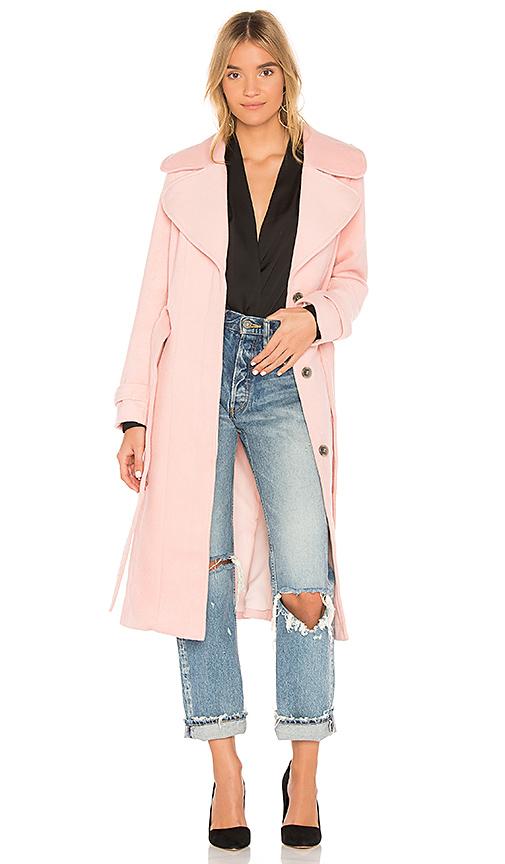 Yumi Kim Double Agent Coat in Blush