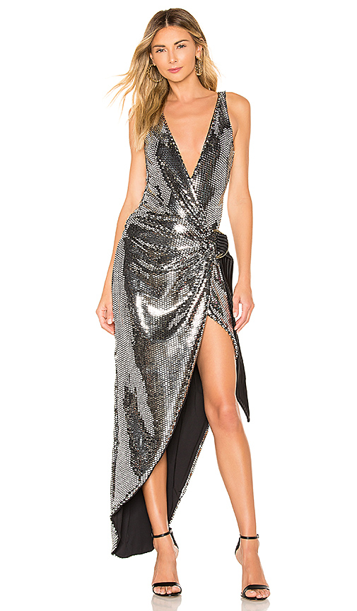 77dce5f77227 Zhivago Wick Gown in Metallic Silver