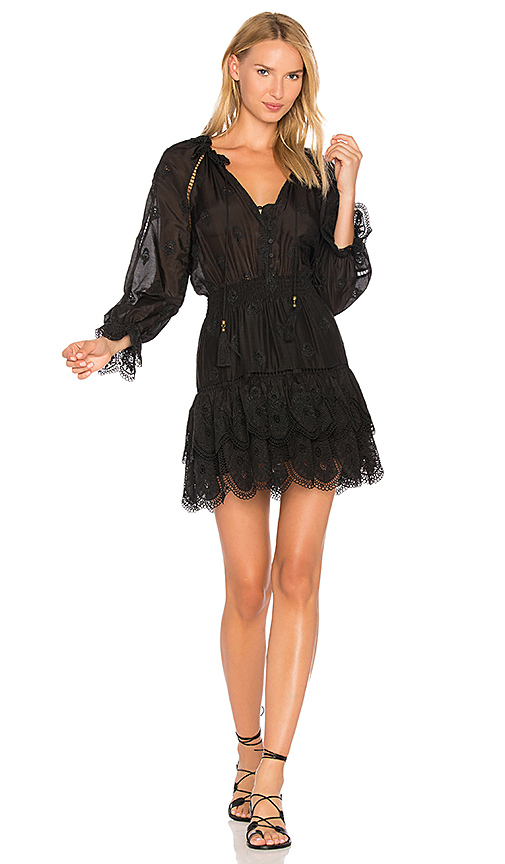 Zimmermann Tulsi Embroidered Dress in Black