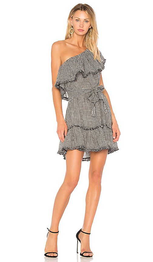 Zimmermann Paradiso Gingham Dress in Black
