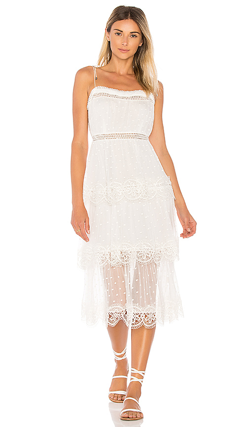 Zimmermann Meridian Circle Dress in Ivory