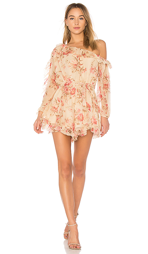 Zimmermann Corsair Whimsy Romper in Pink