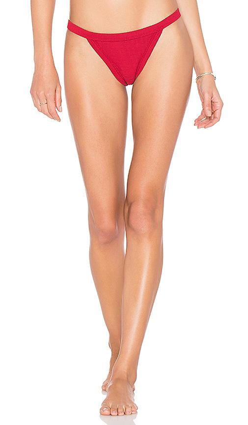 ZULU & ZEPHYR Stella Bikini Bottom in Red