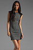 Image 1 of DEREK LAM 10 CROSBY Cap Sleeve Dress in Grey/Black