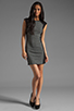 Image 2 of DEREK LAM 10 CROSBY Cap Sleeve Dress in Grey/Black