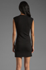 Image 4 of DEREK LAM 10 CROSBY Cap Sleeve Dress in Grey/Black