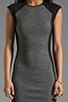 Image 5 of DEREK LAM 10 CROSBY Cap Sleeve Dress in Grey/Black