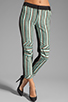 Image 1 of DEREK LAM 10 CROSBY Knee Seam Detail Slim Pant in Patina