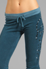 Image 4 of 291 Peace Skull Cropped Track Pant in Ink