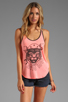 Image 1 of 291 Tiger Curved Hem Tank in Hot Lava