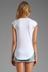 Image 2 of 291 Walk the Sunline Cap Sleeve Scoop Neck in White