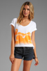 Image 1 of 291 Buffalo Kisses Short Sleeve Relax Tee in White