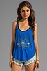 Image 1 of 291 Love Light Curved Hem Tank in Electric Blue
