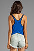 Image 2 of 291 Love Light Curved Hem Tank in Electric Blue