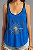 Image 3 of 291 Love Light Curved Hem Tank in Electric Blue