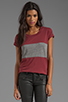 Image 1 of A Fine Line Davy Colorblock Tee in Mulberry/Heather Grey