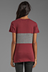 Image 3 of A Fine Line Davy Colorblock Tee in Mulberry/Heather Grey