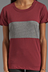 Image 4 of A Fine Line Davy Colorblock Tee in Mulberry/Heather Grey