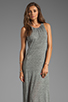Image 1 of AG Adriano Goldschmied Coquette Maxi Dress in Heather Grey/Antique White