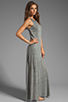 Image 3 of AG Adriano Goldschmied Coquette Maxi Dress in Heather Grey/Antique White