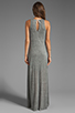 Image 4 of AG Adriano Goldschmied Coquette Maxi Dress in Heather Grey/Antique White