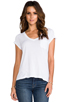Image 1 of AG Adriano Goldschmied Pocket V Neck Tee in White