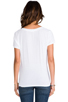 Image 3 of AG Adriano Goldschmied Pocket V Neck Tee in White